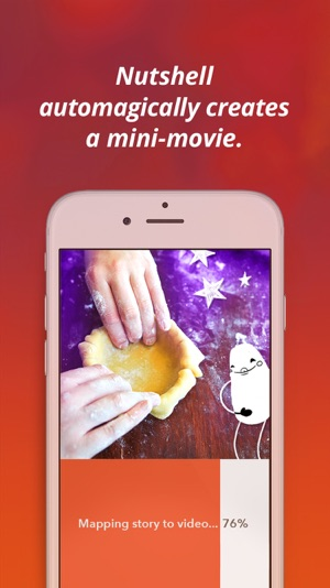 Nutshell Camera: Instant mini-movies with text and animation. Screenshot