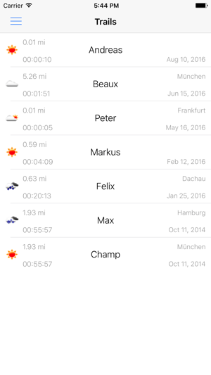 The Mantrailing App Screenshot