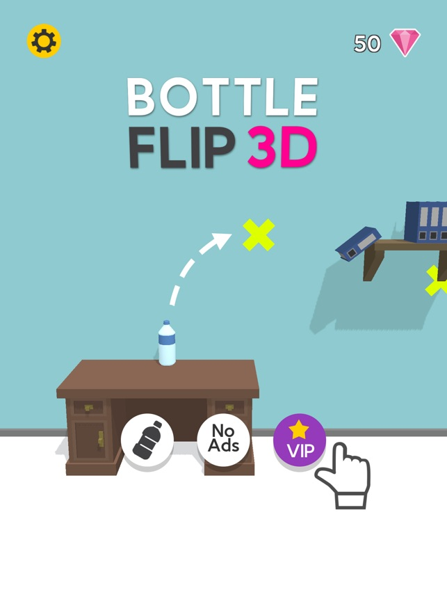 bottle flip 3d on
