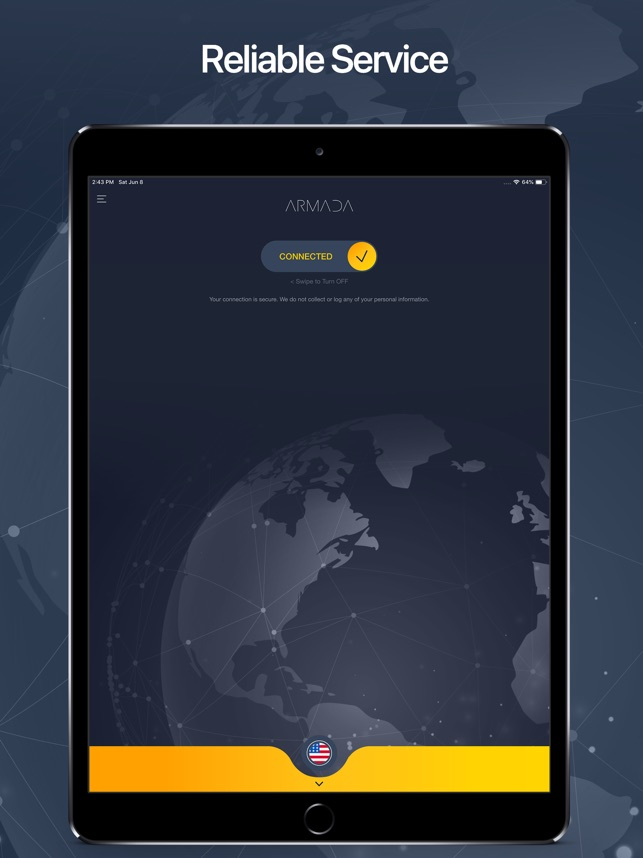Armada VPN - Protect Privacy Screenshot