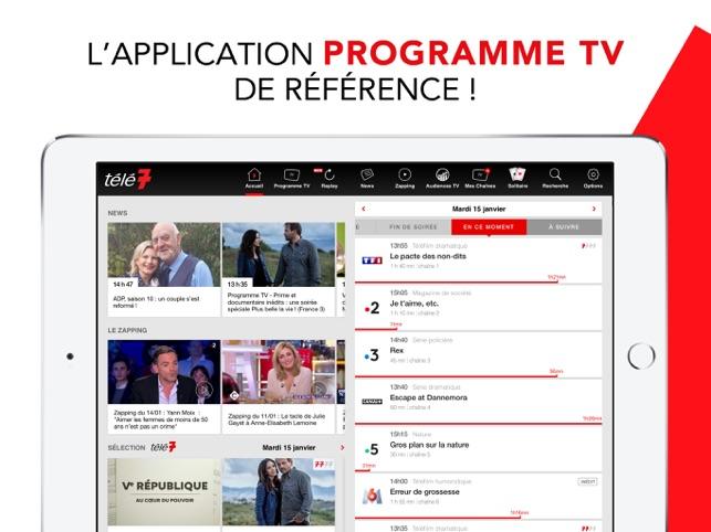 Programme TV Télé 7 Jours Capture d'écran