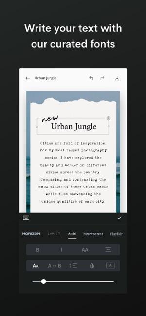 Unfold — Create Stories Screenshot