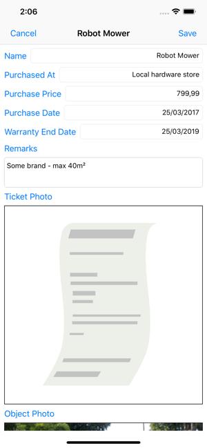 Easy Warranty Tracker Screenshot