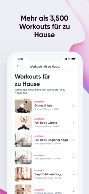 SWEAT: Fitness-App für Frauen Screenshot