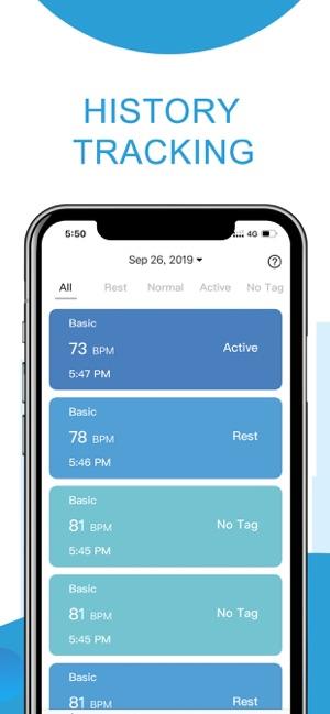 Heart Rate Monitor, Health App Screenshot