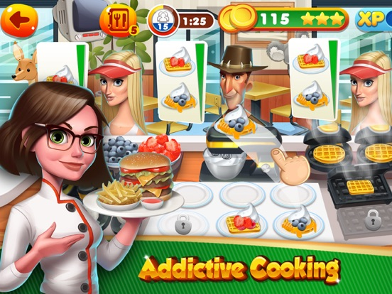 kitchen cooking games sofa top burger chef fast food app price drops screenshot 1 for