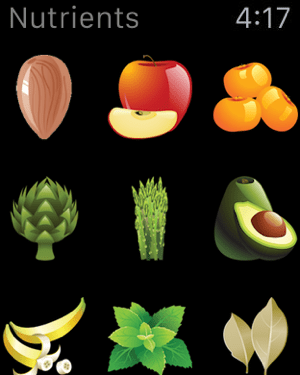 Nutrients - Nutrition Facts Screenshot