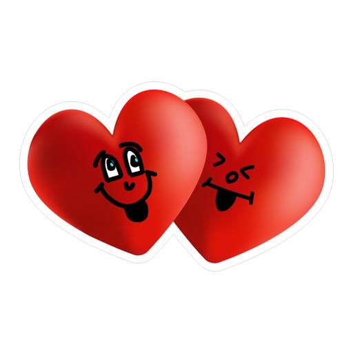 lovely hearts sticker pack