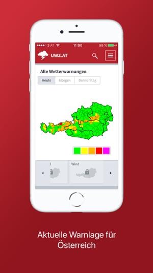 Unwetterzentrale Österreich Screenshot