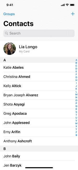 Contacts on the App Store