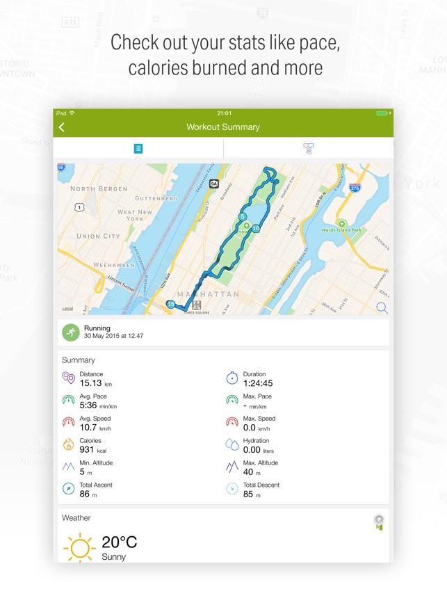 Endomondo Sports Tracker Capture d'écran