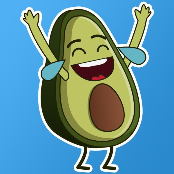 Funny Avocado Stickers Dancer