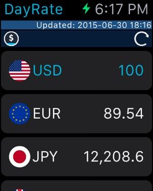 DayRate: Valuta Convertitore Screenshot