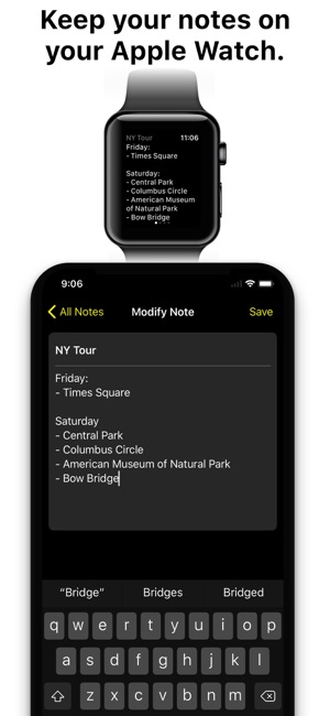 Notes for Watch Screenshot