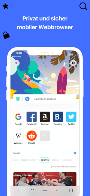 Aloha Browser: Privat VPN TOR Screenshot