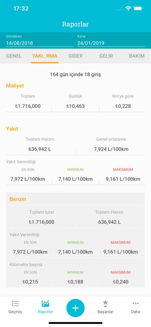Drivvo - Araç Yönetimi Screenshot
