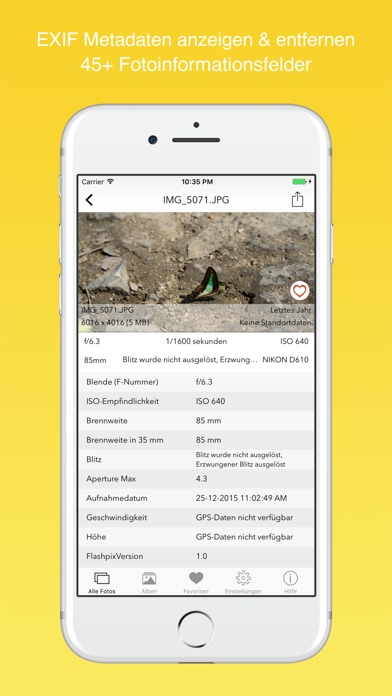 EXIF Viewer by Fluntro - View, Remove GPS Metadata Screenshot