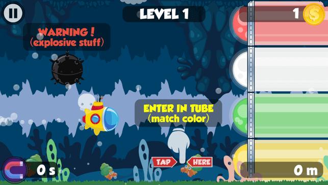 Little rainbow submarine run Screenshot