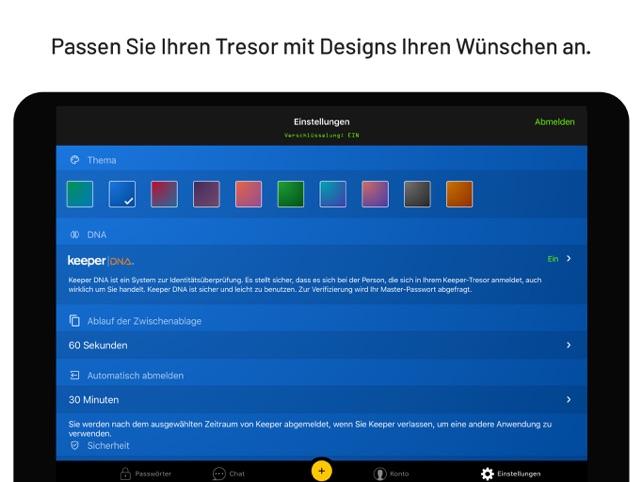 Keeper Passwortmanager Screenshot