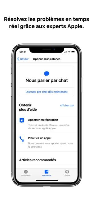 Assistance Apple dans l'App Store
