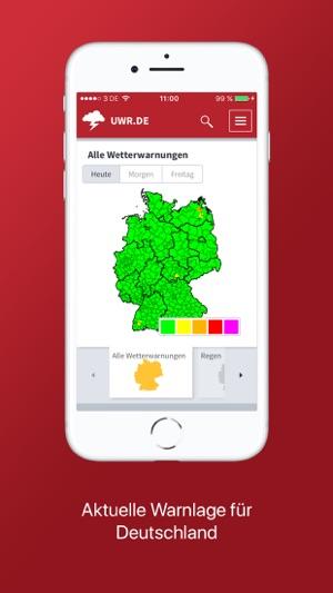 Unwetterradar Deutschland Screenshot