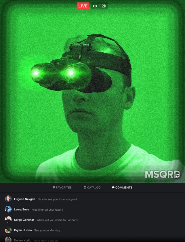 MSQRD — Live Filters & Face Swap for Video Selfies Screenshot