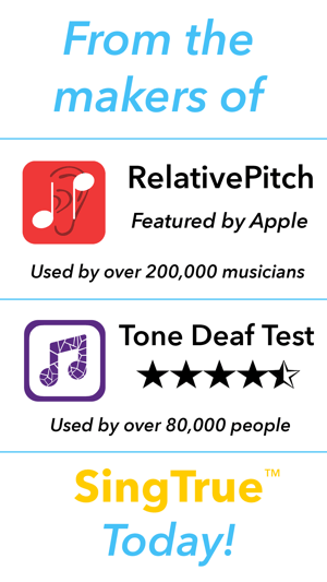 SingTrue: Learn to sing in tune, pitch perfect Screenshot