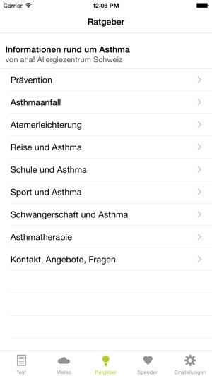 Asthma-Info Screenshot