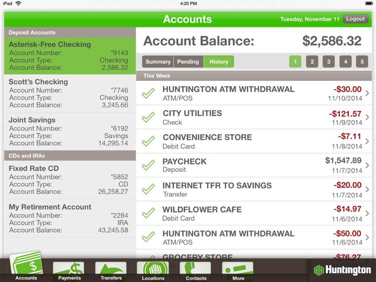 Huntington Mobile For Ipad By Huntington Bank