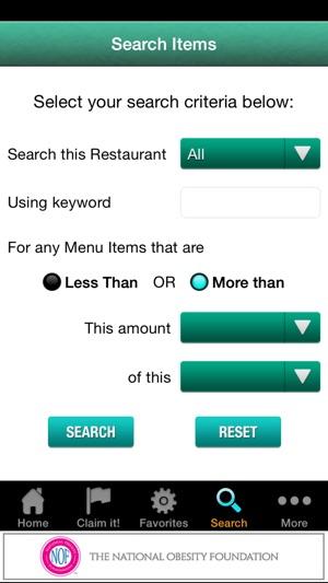 Restaurant Menu Nutrition on the App Store