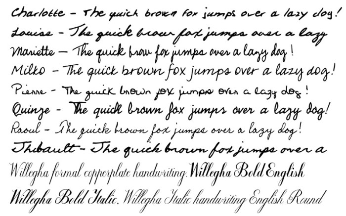 Handwriting Fonts Screenshot 03 131ea5n
