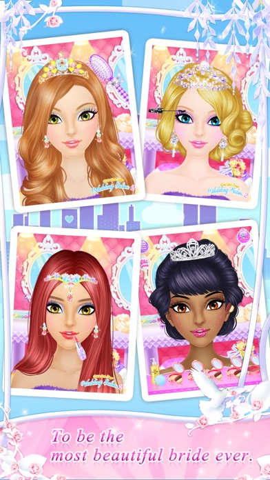 Wedding Salon Game : wedding, salon, Wedding, Salon, Girls, Makeup, Dressup, Game_苹果商店应用信息下载量_评论_排名情况, 德普优化