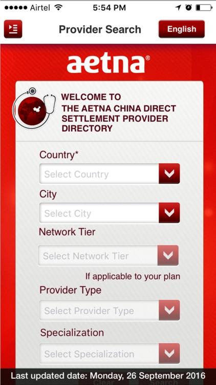 Aetna Int'l China Providers by Aetna Life Insurance Company