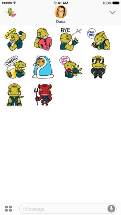 Raptor Cop stickers by Beardownize for iMessage Screenshot