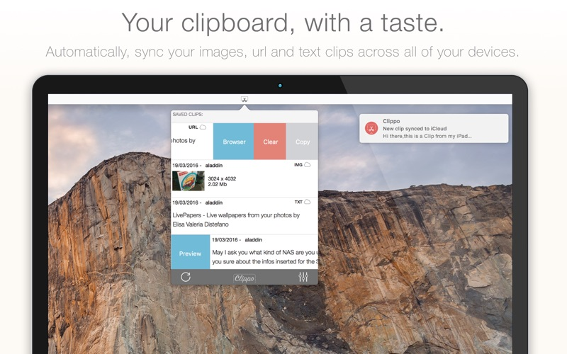 Clippo - Clipboard manager with a taste iPhone