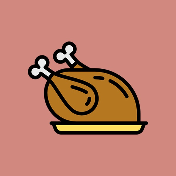 Thanksgiving Stickers - Turkey and stuffing