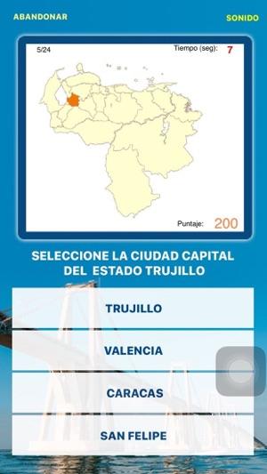Juego Capitales de Venezuela Screenshot