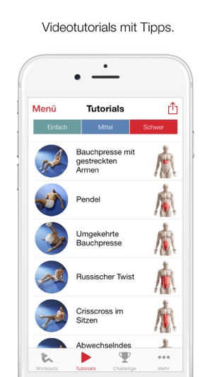 Adrian James Sixpack-Bauchmuskel-Training Screenshot