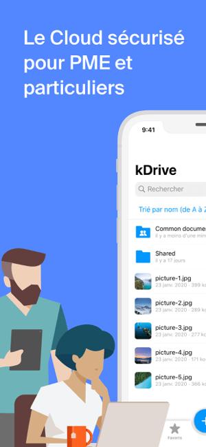 Infomaniak kDrive Capture d'écran