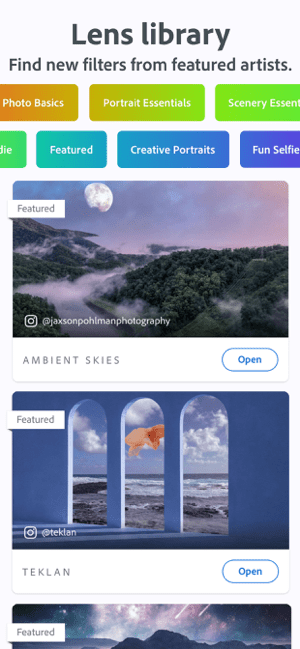 Photoshop Camera Photo Filters Screenshot