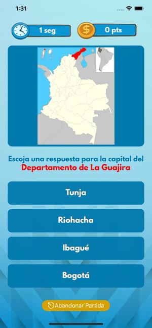 COLOMBIA - Juego Departamentos Screenshot