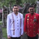 Hary Tanoe dalam puncak perayaan HUT ke-770 Toraja dan HUT ke-60 Tana Toraja di objek wisata Buntu Burake di Kecamatan Makale, Kabupaten Tana Toraja, Sulawesi Selatan