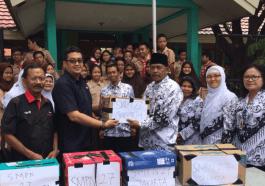 MNC Group Terima Ratusan Buku dari Siswa SMPN 27 Jaktim