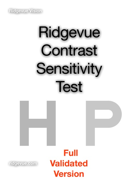 Contrast Sensitivity Test by Ridgevue Vision on iBooks