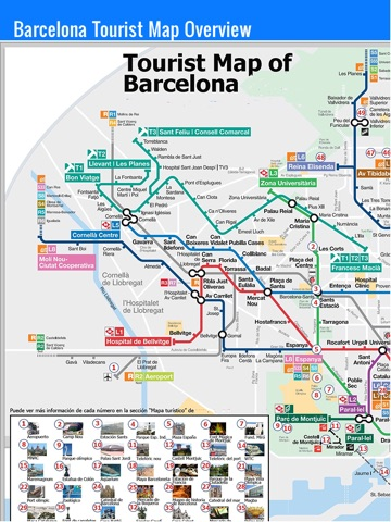 Barcelona Tourist Spots Map traveltourswallcom