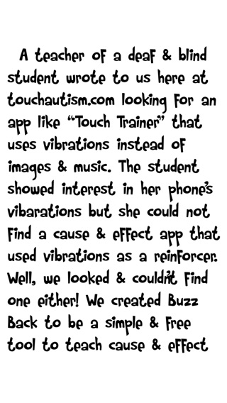 BuzzBack Cause & Effect With Vibrations & Sound on the App