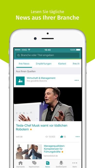 XING Screenshot
