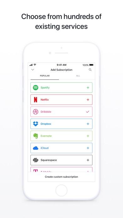 Screenshot do app Bobby - Track subscriptions