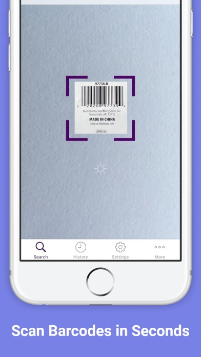 QR Code Scanner and Barcode Reader for iPhone Screenshot