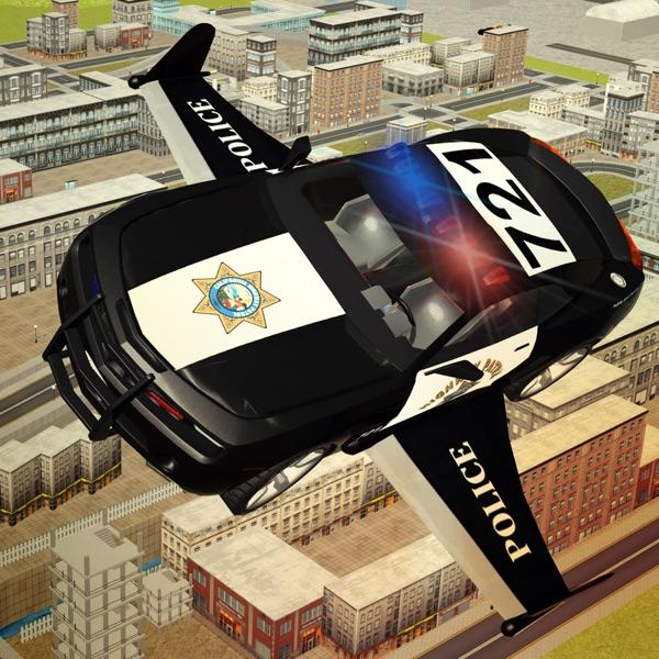 Flying Police car driver simulator 2016